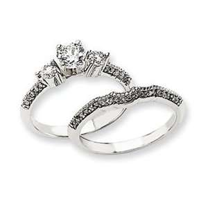 14k White Gold Engagement Ring Mounting Jewelry