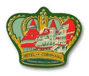 Hotel Del Coronado Vintage Style Travel Decal / Vinyl Sticker, Luggage