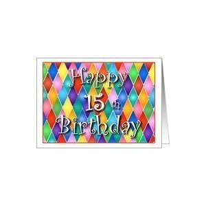15 Years Old Colorful Birthday Cards Card : Toys & Games :