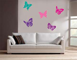 VINYL WALL REMOVABLE STICKERS DECALS BUTTERFLIES