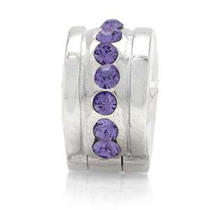 Nagara Crystal 925 Sterling Silver European Charms Bead Lock