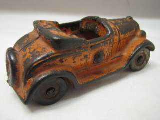 EARLY KILGORE CAST IRON TOY CAR FORD MODEL A ORANGE