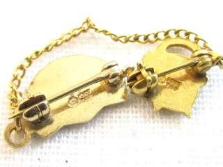Vintage BFCL Masonic Rainbow Girls 10K Top Enamel Pins