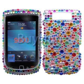 New Colorful Bling Crystal Hard Cover Case For Blackberry Torch 9800