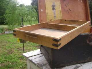 Military Trunk w/ Marilyn Monroe Pin up. Original Old Paint