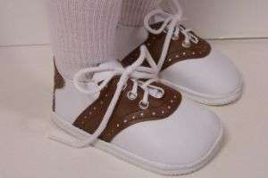 BROWN Saddle Oxford Doll Shoes For My Twinn Poseable♥