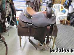 Circle Y Barnes & Cooper Team Roping Saddle Used 15 1/2 NICE