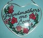 Stained Glass Suncatcher Grandmother Love Heart 5