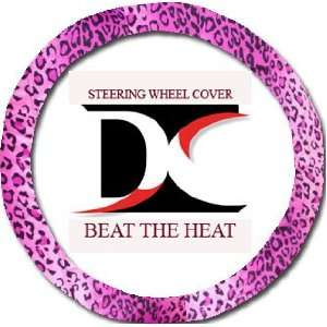 Pink Leopard steering wheel cover. Beat the heat Automotive