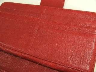 Michael Kors Leather Sloan Top Zip Continental Wallet Red