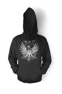 Gothic Phoenix Hoodie Sweatshirt Pullover Biker Chopper
