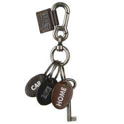 Logo Leather Key Ring
