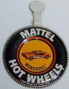 Vintage Mattel Hot Wheels Orange Mongoose Tire Pin