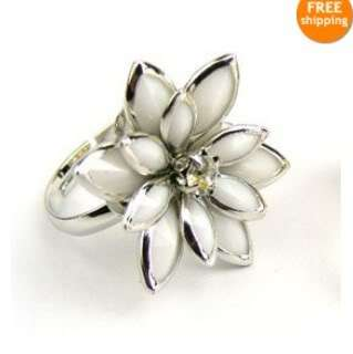 Fashion Exquisite Noble Cute Lotus Flower Sweet Ring valentines Ring