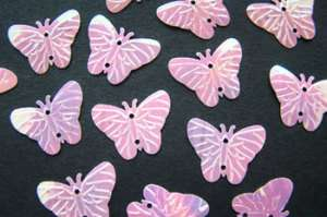 500 Pink Butterfly Sequin Wedding Decoration Confetti