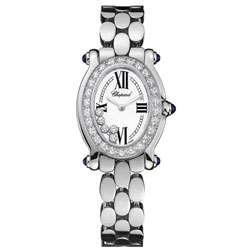 Chopard Happy Sport Womens 18k White Gold Diamond Watch