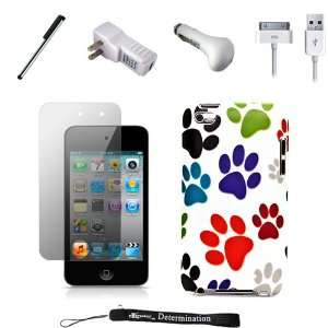 Color Dog Paws Design Cover / 2 Piece Snap On Case for New Apple iPod