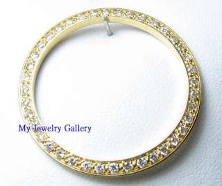 18K SOLID GOLD DIAMOND BEZEL FOR UNISEX MID SIZE ROLEX DATEJUST