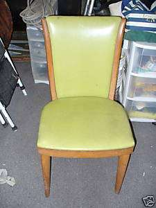 Lime Green Modern Chair   Vinyl   Blonde Wood   NICE