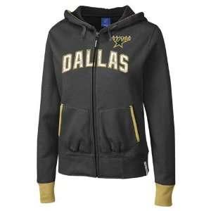 Dallas Stars NHL Womens CHANT Hoodie, Fleece Zip Jacket, Black
