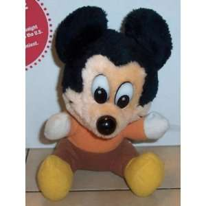 Walt Disney MICKEY MOUSE 6 plush stuffed toy Rare Vintage
