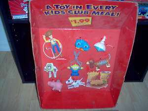 Toy Story Burger King Toy Display With Original Toys