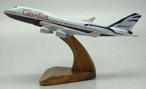 747 Canadian Airlines Boeing Airplane Wood Model Big