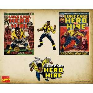 Marvel Comics Retro Luke Cage Comic Book Covers, 16 x 20