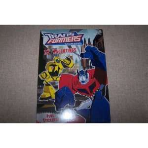 Transformers Animated 32 Valentines plus Sticker Toys