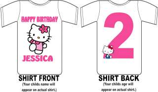 Hello Kitty Custom Birthday Shirt