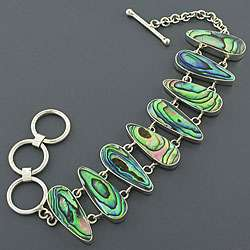Sterling Silver Abalone Paua Shell Bracelet (Indonesia)