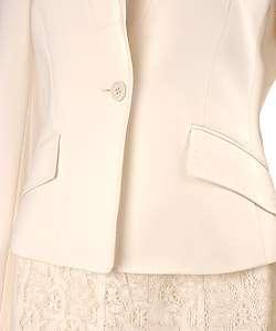 Anne Klein 1 button Skirt Suit