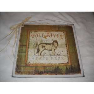 Wolf River State Park Wooden Lodge Cabin Decor Wall Art