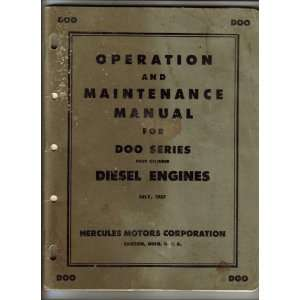 for Doo Series Four Cylinder Diesel Engines Hercules Moors Books