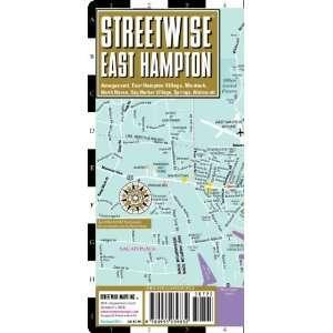 East Hampton Map   Laminated City Street Map of East Hampton, New York