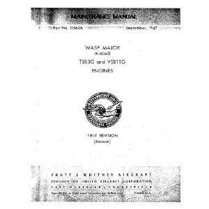 Pratt & Whitney R 4360 TSB2G Aircraft Engine Maintenance Manual Pratt