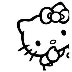 Hello Kitty Peeking Corner Vinyl Sticker Decal Cute Sanrio JDM Choose