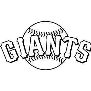 San Francisco Giants MLB Vinyl Decal Sticker / 14 x 7.5