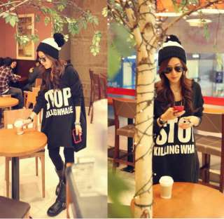 Fashion Korea Lady Long Sleeve Casual Hoodie Sweatshirts Outerwear