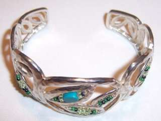 Silpada New Sterling Silver Turquoise Bead Cuff Bracelet B2043 Gift