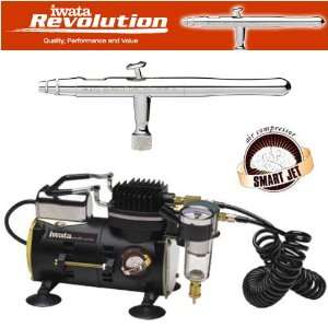 IWATA REVOLUTION AR AIRBRUSHING SYSTEM WITH SMART JET AIR COMPRESSOR