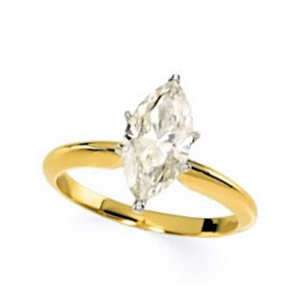 CT MARQUISE MOISSANITE ENGAGEMENT RING 14K TWO TONE