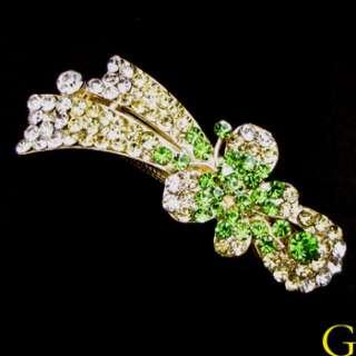 , Rhinestone crystals butterfly hair barrette clip