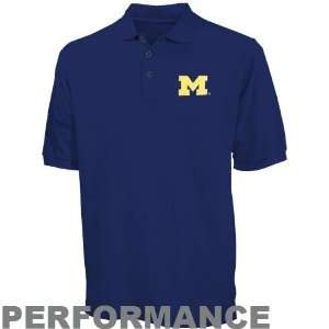 Nike Michigan Wolverines Navy Blue Dri Fit Polo Sports