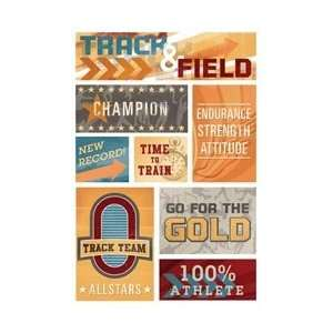 Karen Foster Track/Field Cardstock Stickers 5.5X9