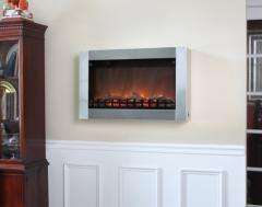 NEW   Stainless Steel Wall Mounted Electric Fireplace