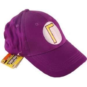 Nintendo Super Mario Baseball Hat Waluigi Purple Toys & Games