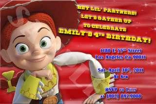 Toy Story Jessie Custom Birthday Invitation w/envelopes