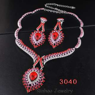 Necklace Earring Set Drop Eye Focal Joint Golden/Silver Color Czech