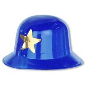 Blue Plastic Keystone Cop Headpiece: Toys & Games